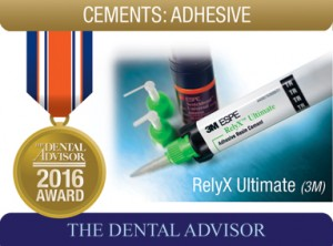 3m Espe Relyx Ultimate Adhesive Resin Cement 2016 Award