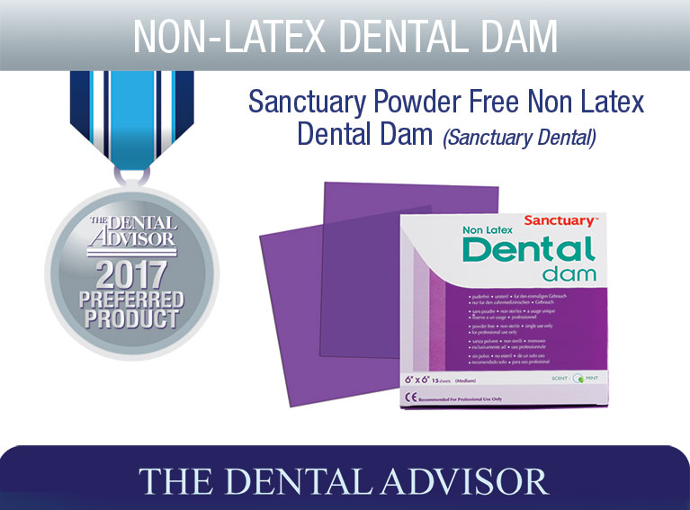 Sanctuary Powder Free Non Latex Dental Dam