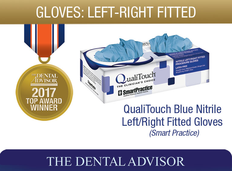 QualiTouch Blue Nitrile Left-Right Fitted Gloves