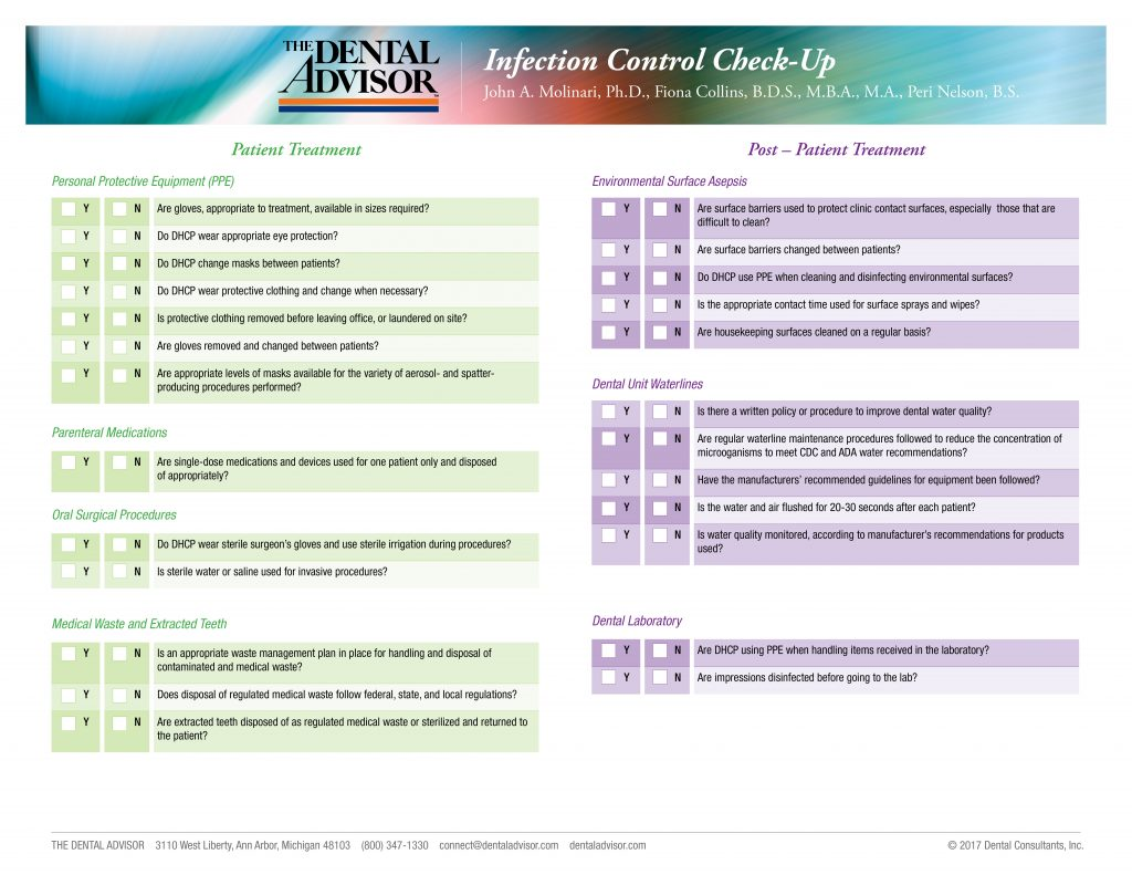 Infection Control Corner The Dental Advisor