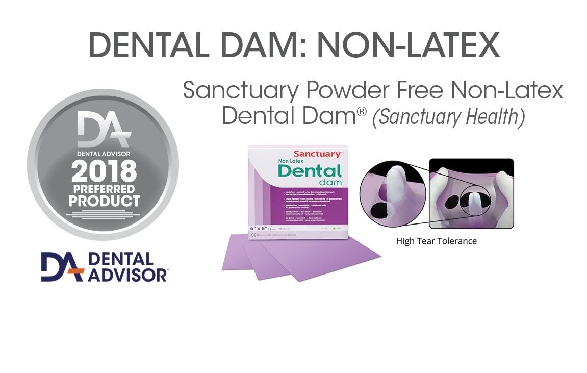 Sanctuary Powder Free Non-Latex Dental Dam®