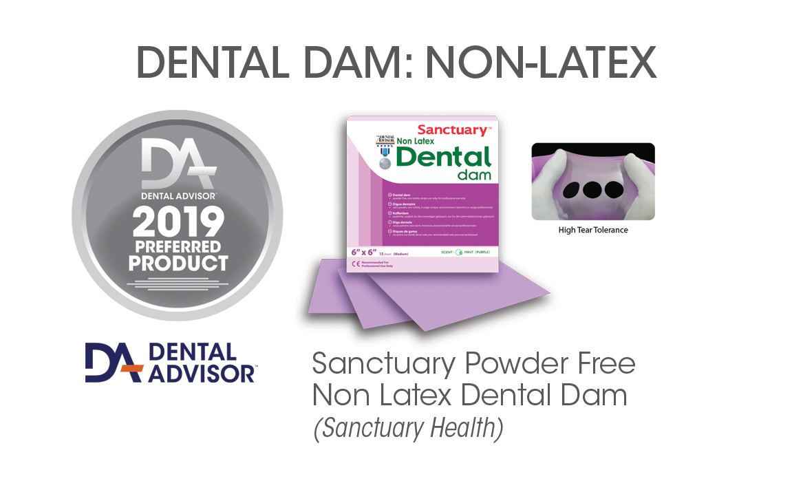 Sanctuary™ Powder Free Non Latex Dental Dam®