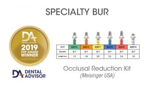 Tapered Occlusal Reduction Diamond Burs (2019 Product Award