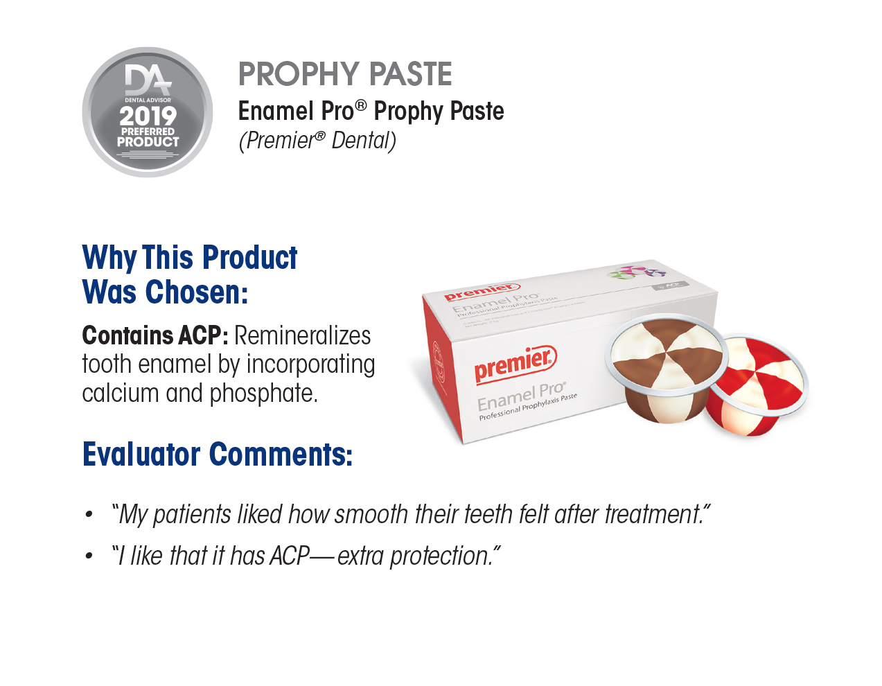 Enamel Pro (2019 Preferred Product) – The Dental Advisor