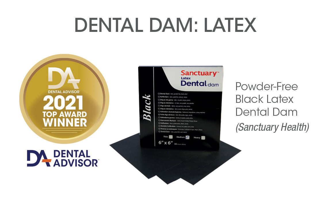 Powder-Free Black Latex Dental Dam